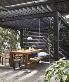 The pergola kits are the easiest and quickest way to build a garden pergola. There are lots of do it yourself pergola kits available to you so that anyone could easily put them together to construct a new structure at their backyard. Wooden Pergola, Outdoor Pergola, Backyard Pergola, Pergola Plans, Outdoor Rooms, Outdoor Living, Pergola Lighting, Cheap Pergola, Pergola Carport