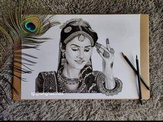 Radha Krishna Sketch, Krishna Drawing, Krishna Painting, Krishna Radha, Dark Art Drawings, Art Drawings Sketches Simple, Indian Art Gallery, Canvas Painting Tutorials, Illustration Art Drawing