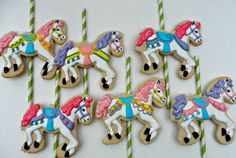 Carousel Horses (Decorated Cookies)