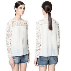European Style Brand Hollow out Blouse Flowers Lace Chiffon Tops Shirt Spring Summer Fall Women Lady Wear Free Shipping,2211