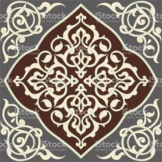 Set of ornaments based on Islamic design. Colors are global for easy. Motifs Islamiques, Islamic Motifs, Islamic Tiles, Islamic Art Pattern, Arabic Pattern, Motif Arabesque, Motif Oriental, Stencils, Free Vector Art