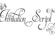 Invitation Script Pack (4 fonts) from FontBundles.net