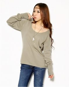 Fashion Solid Pullover Sweater on BuyTrends.com, only price $7.50