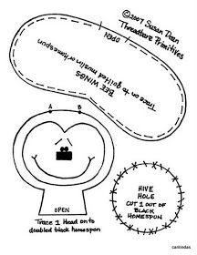 Artesanato em Feltro | Meninas Travessas |: Patti's Ratties - abelha Dyi Crafts, Fabric Dolls, Hobbies And Crafts, Paper Piecing, Doll Patterns, Primitive, Hanger, Projects To Try, Album