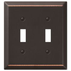 Oil Rubbed Bronze - Traditional Design Single Toggle Switch Wall Plate - Switch And Outlet Plates - AmazonSmile
