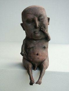 I see president Trump. Human Sculpture, Sculpture Clay, Abstract Sculpture, Sculptures, Ceramic Figures, Ceramic Art, Ceramic Monsters, Organic Ceramics, Small Art