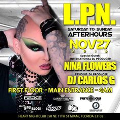 La Puta Nota Afterhours -November 27th, 2016: La Puta Nota Afterhours -November 27th, 2016 La Puta Nota Afterhours – November 27th, 2016 | Music by Fabulous DJ Super Star Nina Flower and our Resident Dj Carlos G. Looking for La Puta Nota? Our favorite keywords In Google, Yahoo, Bing, and other search engines are: Miami Gay Blog, Miami Beach Afterhours, Miami Gay Afterhours…