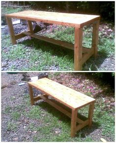 I made this bench with recycled wood found within a heap of pallets in Nairobi, Kenya. I made the top using 2inch by 2inch wood pieces glued together and the joints are made using steel angles with self-tapping screws. The whole bench was sanded and applied with 2 coats clear vanish.…
