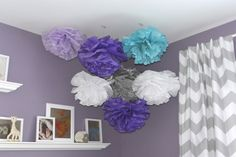 Project Nursery - Tissue Paper Pom Poms