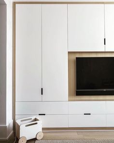 Bedroom Decor For Teen Girls, Tv In Bedroom, Storage Cabinets, Tall Cabinet Storage, Toy Storage, Joinery Details, Entertainment Wall, Living Room Storage, Living Rooms