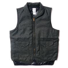 Herringbone Tweed Navy-Cruz Vest