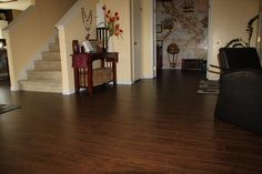 BuildDirect – Laminate - 12mm Exotic Wide Plank Collection – Kashmir Walnut - Hallway View