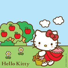 Hello Kitty as Little Red Riding Hood
