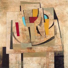 "Ben Nicholson - Still Life, 1945, oil on canvas, 27"" x 27"". Albright-Knox Art Gallery"