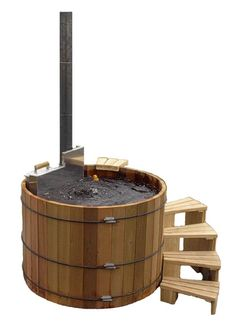 old school wine barrel hot tub