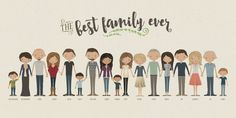 mother's day gifts for grandmas: Extended family portrait from ink lane design