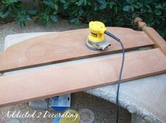 Bench Made From A Headboard And Footboard - Addicted 2 Decorating®