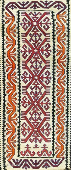 Antique Chibta mat/kilim, late c. Ethnic Design, Cross Stitch Borders, Asian Art, Bohemian Rug, Arts And Crafts, Carpet, Textiles, Kilims, Costume