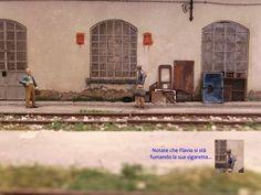 """149_diorama ferroviario """"Rimessa locomotive daposito Pistoia"""" Ho Model Trains, N Scale, Miniature Houses, Locomotive, Diorama, Scenery, Deco, Building, Projects"""