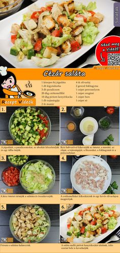 Caesar Salad Rezept mit Video – schnelle und einfache Salat Rezepte The famous Caesar Salad convinces with chicken, cucumber and tomatoes. You can easily find the Caesar Salad recipe video using the QR code :] salad Beet Salad Recipes, Salad Recipes Video, Chicken Salad Recipes, Beef Recipes, Cooking Recipes, Healthy Recipes, Cucumber Recipes, Hungarian Recipes, Italian Recipes