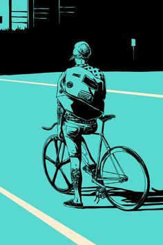 Love the comic-book, illustrative style. The flatness as well as the block colour approach