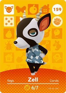 Nintendo Animal Crossing Happy Home Designer Amiibo Card Zell USA Version: Animal Crossing Amiibo Cards, Animal Crossing Villagers, Animal Crossing Pocket Camp, Animal Crossing Game, Acnl Villagers, Nintendo 3ds, Happy Home Designer, New Leaf, Pusheen