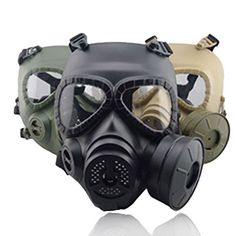 Airsoft Tactical Wargame Gas Protective Mask Cosplay Built-in Fan paintball #Unbranded