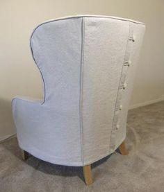 Bonanza Wing Chair Slipcover by Karen's Custom Slipcovers — SlipcoverFabrics.com