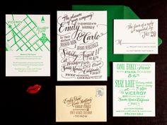 Ladyfingers Letterpress Gallery Thumbnail Invitaciones de boda tipografías http://www.elblogdeboda.com/