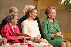 onemoreblogaboutroyals:  Three Queens of Belgium-Queen Fabiola, Queen Mathilde, Queen Paola, July 21, 2013