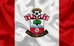 Scarica sfondi Southampton, Club di Calcio, Premier League, calcio, Regno Unito, Inghilterra, Southampton emblema, logo, club di calcio inglese