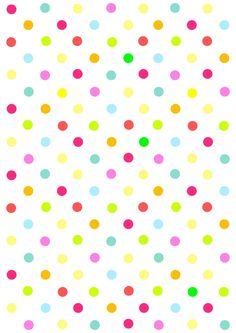 Free digital multicolored polka dot scrapbooking paper - ausdruckbares Geschenkpapier - freebie | MeinLilaPark – DIY printables and downloads