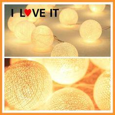 20 Cotton Balls Lights Warm White Holiday LED String Fairy Xmas LIGHTS Luces De Navidad Wedding Party Romantic Decoration Lamps