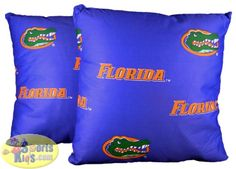 "College Covers Florida Gators 16""x16"" Decorative Pillow (Set of 2)"