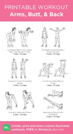 Arms, butt & back · WorkoutLabs Fit - h . - Arms, butt & back · WorkoutLabs Fit – healthy – You are in the - Slim Fitness, Fitness Workouts, At Home Workouts, Fitness Motivation, Gym Machine Workouts, Planet Fitness Workout Plan, Weight Machine Workout, Cable Machine Workout, Walking Workouts