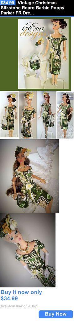 Custom Handmade Barbie Clothing: Vintage Christmas Silkstone Repro Barbie Poppy Parker Fr Dressandhat Handmade Ooak BUY IT NOW ONLY: $34.99