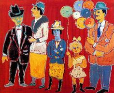 untitled picture by Fikret Muallâ Saygı Turkish born; lived in Paris - His work reflected influences from Expressionism and Fauvism, with subject matter focusing on Paris street life, and social gatherings such as cafés and circuses (mediacache - wiki) Local Painters, Expressionist Artists, Expressionism, Paintings Famous, Oil Paintings, Pics Art, Painter Artist, Turkish Art, Art Station