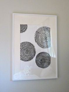 DIY with a Sharpie + ikea frame | via Hazardous Design: Smart Art