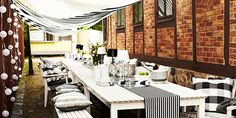 Bordene er dækket op til årets sommerfest