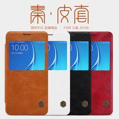 10pcs/lot Wholesale NILLKIN Qin Series Wallet Flip Leather Case For Samsung Galaxy J5108(2016) 5.2inch Genuine Flip Leather Case