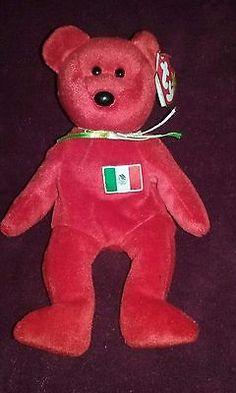 68573f59828 RARE Beanie Baby Osito the Bear - Rare green ribbon