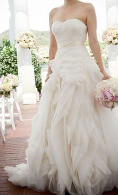 breathtaking Vera Wang dress...