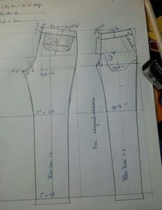 Sewing pants pattern costura Ideas for 2020 Sewing Paterns, Dress Sewing Patterns, Sewing Patterns Free, Clothing Patterns, Sewing Tutorials, Techniques Couture, Sewing Techniques, Sewing Pants, Sewing Clothes