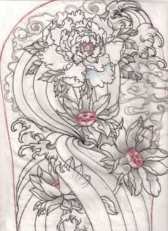 japanese sketch for work by OldSchoolAdorned on @DeviantArt