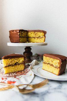 yellow saffron cake