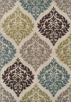 brown gray blue rug   Teal and Gray Area Rugs