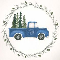 ArtWall Old Blue Truck Removable Wall Decal is a beautiful reproduction featuring a cartoon style truck with pine trees in the bed. A wonderful conversation piece that will complement any home or office. Size: H x W x D Nursery Wall Decals, Wall Murals, Wall Art, Painting Prints, Canvas Prints, Art Print, Canvas Paintings, Fall Paintings, Canvas Art