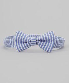 Love this Blue Stripe Seersucker Bow Tie by Caught Ya Lookin' on #zulily! #zulilyfinds