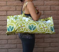 SPRING DAISIES Handmade Yoga or Pilates Tote Gym Bag by ChellaBellaDesigns, $38.00