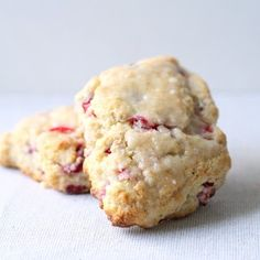 Fresh Cranberry Lime Scones - Sprinkled with Flour